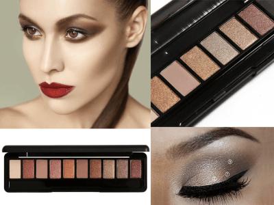 Paleta Maquillaje de Ojos Natural, Sombra Ojos 10 Colores Claros, crea ojos Brillantes y Luminosos, uso prolongado, 8 horas sin desvanecerse, Solvente de proceso húmedo permite suavidad