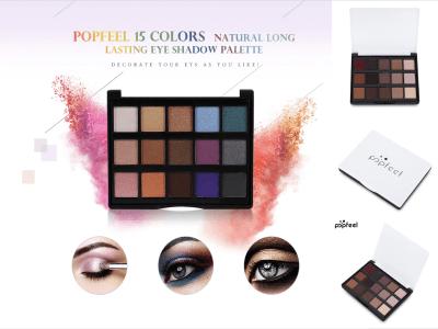 Mini Paleta Sombras Ojos Mate, 15 Colores, Larga Duración, Duradera todo el día, Cómoda de llevar, Fácil de usar. Diferentes colores, diferentes estilos de maquillaje.