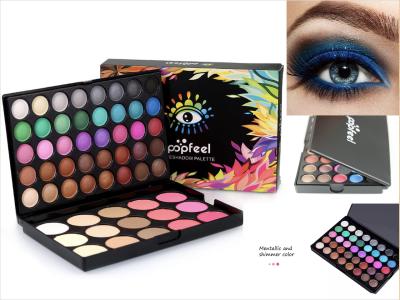 Maravilloso juego de 55 colores que incluyen sombras de ojos mate y brillantes. Fácil de combinar con tu look. Estrechamente vinculado a tu piel, dos tipos de paletas de sombras de ojos