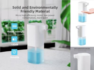 Dispensador jabón Inteligente, Lavado Manos Automática Espuma Inducción. Ahorro energía. <40dB. Durable. Burbujea en 0,25 segundos. Sin contacto directo. Elimina eficazmente el 99,9% de las bacterias