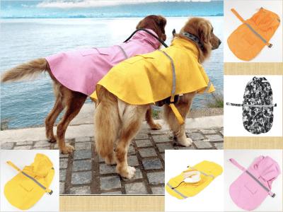 Chaqueta impermeable reflectante para perros. Ajustable, con gorro, Ideal para tu mascota. Traiga más comodidad y cuidado su mascota. Aumente visibilidad para mantener segura su mascota. Talla XL