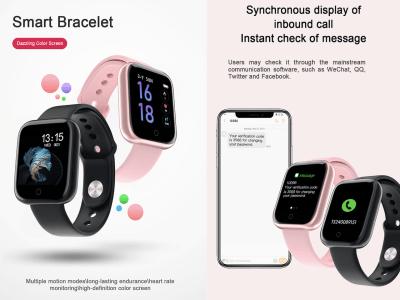 Reloj inteligente T80, Compatible IOS y Android, Pulsera Inteligente a Prueba de Agua, Rastreador de Actividad Física, Monitor de Frecuencia Cardíaca, Reloj para Hombres y Mujeres