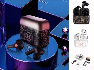 TS 100 Auriculares Estéreo Inalámbricos Bluetooth 5.0 Grafito, Batería 400mAh, Reproducción 2-4 horas, Cancelación Ruido, IPX5 Impermeable, Diseño Lujo, Espera de 1-2 meses, 2 Colores Disponibles