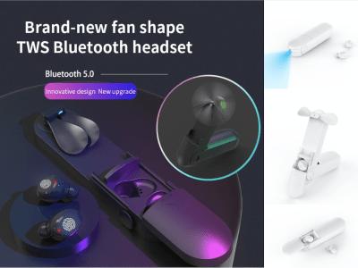 Auriculares Inalámbricos con Bluetooth 5.0, Dispositivo Portátil con Ventilador, Resistente al Agua IPX7 y con Pantalla LED, Cancelación de Ruido, Compatibles con Android e IOS, 5 Colores Disponibles