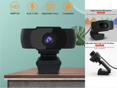 Cámara web HD USB 1080P con micrófono HD incorporado. Cámara web USB 1920 x 1080. Video en pantalla ancha
