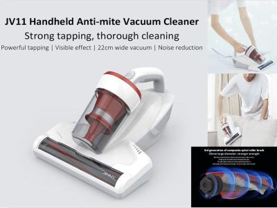 Aspirador de mano antiácaros removedor de polvo. Golpeteo fuerte, mediante limpieza. Efecto visible.