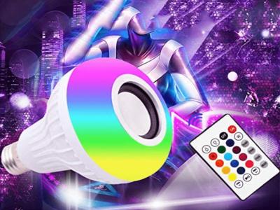LED Light Bulb Bluetooth Speaker