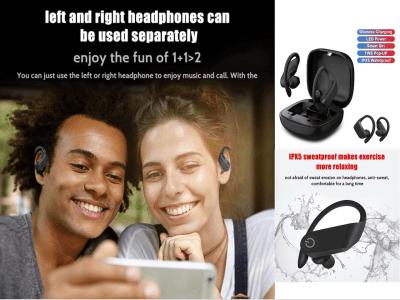Auriculares Inalámbricos B10, Bluetooth 5.0 + EDR, Carga Inalámbrica Qi, Impermeable IPX5, Cancelación Ruido, Tiempo Uso 4-8 horas, Compatible Android y IOS
