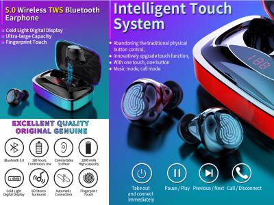 Auriculares Inalámbricos X29 TWS, Bluetooth 5.0 + EDR, Pantalla LED Inteligente, Sonido 6D HIFI Calidad Cine, Impermeable IPX7, Cancelación Ruido, Tiempo Uso 4-8 horas, Compatible Android y IOS
