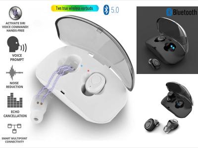 Auriculares Inalámbricos, Bluetooth 4.2, Impermeable IPX4, Cancelación Ruido, Tiempo Uso 4-8 horas, Deportivos, Carga tu Móvil donde quieras, Compatible Android y IOS