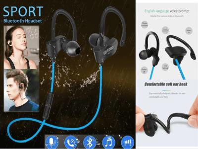 Auriculares Inalámbricos TWS, Gancho para Oreja, Banda para el Cuello, Bluetooth 4.2, Impermeable IPX5, Cancelación Ruido, Tiempo Uso 4-8 horas, Estéreo, Deporte, Gaming, Compatible Android y IOS
