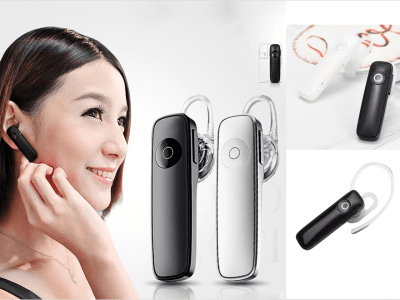 Auricular Inalámbrico TWS, Bluetooth 4.0, Gancho Oreja, Impermeable IPX5, Cancelación Ruido, Tiempo Uso 4-5 horas, Estéreo, Elegante, Ideal para Personas de Negocios, Compatible Android y IOS