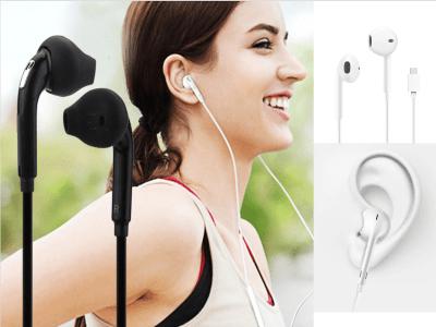 Auriculares, Alta Calidad Sonido, Impermeable IPX4, Cancelación Ruido, Conexión 3,5mm, Ideal para Deporte, Largo Cable 1,2 metros, Compatible Android y IOS