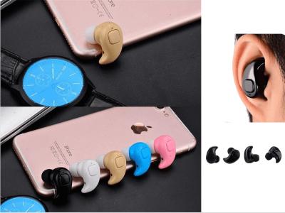 Mini Auriculares Inalámbricos S530 TWS, Bluetooth 4.1, Impermeable IPX4, Cancelación Ruido, Tiempo Uso 4-6 horas, Compatible Android y IOS