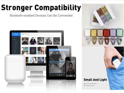 Auriculares Inalámbricos I12 TWS, Bluetooth 5.0, Táctil, Impermeable IPX5, Cancelación Ruido, Estéreo, Tiempo Uso 3-5 horas, Compatible Android y IOS