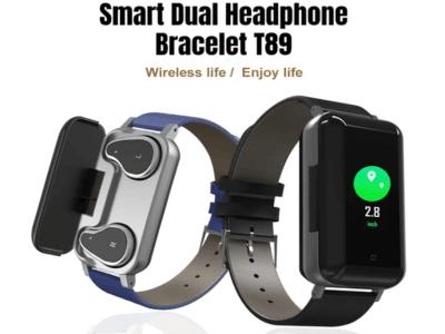 Reloj Pulsera Inteligente Impermeable, Auriculares Bluetooth Alta Calidad incluidos con soporte dentro del Reloj, Deportivo, Monitor de Presión Arterial, Compatible IOS y Android