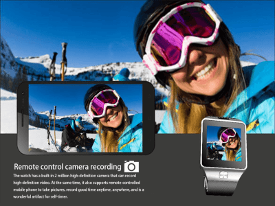 Reloj Inteligente Teléfono con Pantalla Táctil, Bluetooth, Reloj Inteligente con Cámara, Tarjeta SIM, Compatible Android