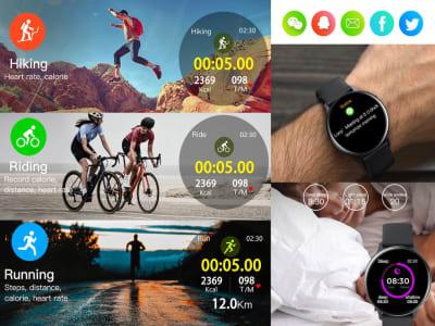 Reloj inteligente S20 ECG para hombres y mujeres, Compatible iOS y Android, Reloj Inteligente con Pantalla Táctil completa, Resistente al Agua IP68, Monitor de Ritmo Cardíaco, Control Presión Arterial