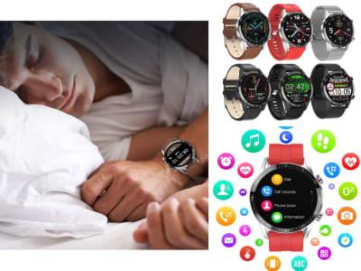 Reloj inteligente L13 para hombres, Compatible iOS y Android, Resistente al Agua IP68, Reloj Inteligente Deportivo Impermeable ECG PPG, Bluetooth, llamadas, Presión Arterial, Ritmo Cardíaco, Rastreado
