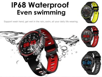 Reloj Inteligente L8 ideal para Personas Deportistas, Comptabile IOS y Android, Fitness, Resistente al Agua IP68. Smart watch con ECG PPG, Controla tu Presión Arterial, Frecuencia Cardiaca