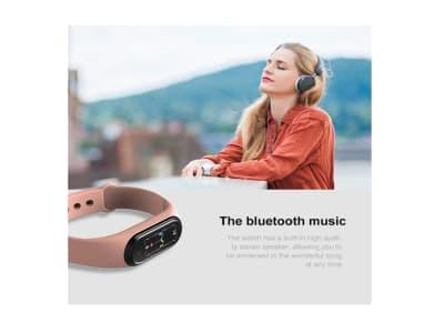 Reloj inteligente deportivo M5 para Hombres y Mujeres, Compatible IOS y Android, Bluetooth, Rastreador de Ejercicios, Llamadas, Pulsera Inteligente para Reproducir Música