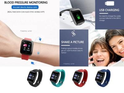 Reloj Inteligente perfecto para actividades Deportivas, Fitness, Compatible IOS, Android, Pulsera Inteligente Impermeable, con podómetro y mucho más