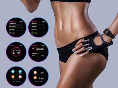 Reloj Inteligente, Pantalla Táctil completa, Ritmo Cardíaco, Presión Arterial, Rastreador Deportivo Fitness, Smartwatch F10 Compatible IOS y Android