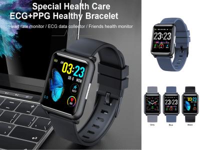 Reloj Inteligente Control Presión Arterial, Monitor Frecuencia Cardíaca PPG ECG, Pulsera Inteligente para control tu Deporte, FM Radio, Bluetooth, MP3, Resistente Agua IP67, Compatible Android y IOS