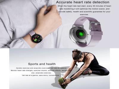 """Reloj Inteligente Contador de Calorías, Resistente al Agua IP67, Pantalla Redonda de 1.3"""", Monitor de Presión Arterial, Frecuencia Cardíaca, Perfecto para fitness, Email, Compatible Android y IOS"""