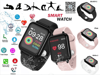 Smart Watch with Touch Screen, Waterproof, Ideal for Women and Men, Perfect Bracelet for Sports Activities, Heart Rate Monitor, MP3, Email, Radio, Compatible Android and IOS