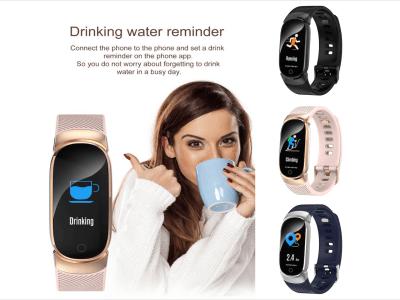 Pulsera Deportiva Impermeable IP67, Reloj inteligente Ritmo Cardíaco, Fitness, Presión Arterial, Pantalla OLED, Compatible Android y IOS, Bluetooth, Notificación Llamadas, Podómetro