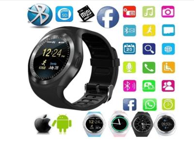 Reloj Teléfono Inteligente con Pantalla Táctil, Bluetooth, Recordatorio de Mensaje, Llamadas Manos Libres, Tarjeta SIM, Email, MP3, Compatible Android y IOS, Alarmas