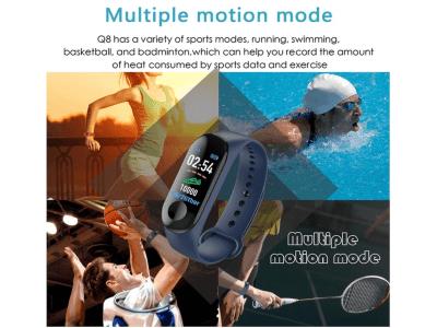 Brazalete Inteligente Control Actividad Deportiva, Podómetro, Monitor Frecuencia Cardíaca, Presión Arterial, Compatible Android y IOS, Bluetooth, Resistente al Agua IP67, Pantalla OLED