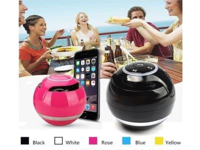 Altavoz portátil bajo Bluetooth Crystal Sound Show de luces LED Radio FM Micrófono USB Karaoke Mini altavoz inalámbrico Perfecto para teléfono, tableta, senderismo, barbacoa