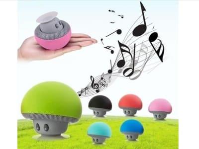 Champiñón Altavoz Portátil Inalámbrico, Bluetooth, Micrófono Incorporado, Llamada manos libres, Compatible Android y IOS, Karaoke, wifi, USB, Tiempo Reproducción 15 horas