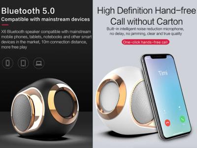 Altavoz Bluetooth Inalámbrico Portátil Gama Alta 108DB, Bluetooth 5.0, Micrófono, AUX, TF, Udisk, Sonido Cristalino, Subwoofer, Compatible IOS y Android, Karaoke, wifi, Uso 5-8 horas
