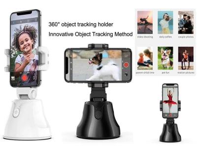 Soporte 360º de seguimiento inteligente. Seguimiento automático de la cara. Soporte de la cámara del teléfono para Teléfono Inteligente. Foto Vlog vídeo en directo