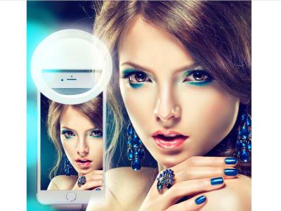 Clip de cámara USB recargable, portátil. Fotografía, Video. Anillo LED para Selfie con Teléfonos móviles