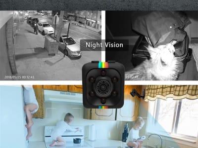 SQ11 Mini cámara HD 1080P. Seguridad inalámbrica Oculta. Mini cámara espía. Visión nocturna. Videocámara Movimiento DVR Micro