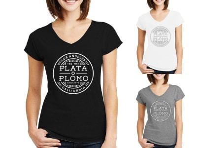 Camiseta Mujer Plata o Plomo