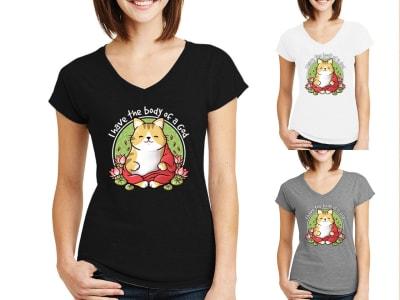 Camiseta Mujer Gato Buda