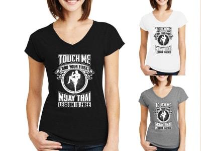 Camiseta Mujer Muay Thai