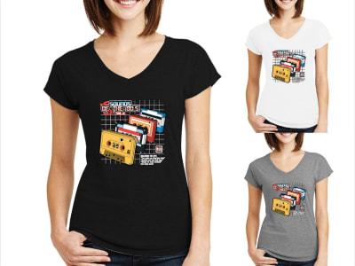 Camiseta Mujer Sonidos de los 80s