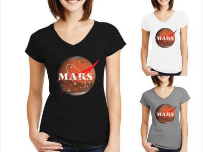 Camiseta Mujer Planeta Marte
