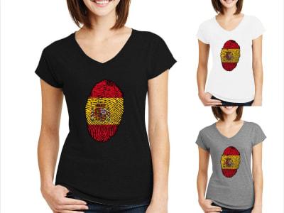 Camiseta Mujer Huella España