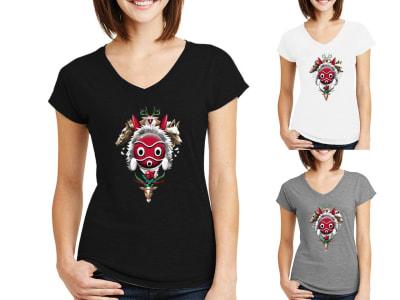 Camiseta Mujer Espíritu Princesa Mononoke