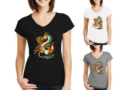 Camiseta Mujer Espíritu Dragón
