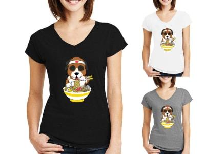 Camiseta Mujer San Bernardo Amante del Ramen