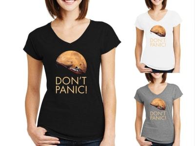 Camiseta Mujer Don't Panic