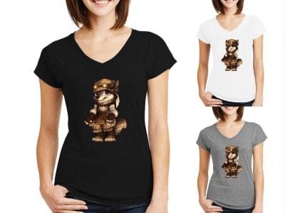 Camiseta Mujer Zorra Steampunk